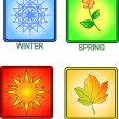Stock Vector: Seasons