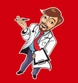 Young good doctor — Stock Vector