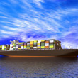 Large container ship - Stockfoto