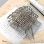 3D plan drawing — Stock Photo