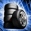 Stock Photo: Wheels for sports car