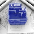 3d plan drawing — Stock Photo #6265836