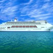 The huge oceanic liner in the high sea - Stock Photo