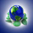 Planet Ecology icon — Stock Photo