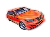 My own car design. — Stock Photo