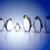Fun penguins — Stock Photo