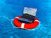 Laptop help — Stock Photo