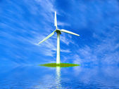 Wind turbine farm — Stock Photo