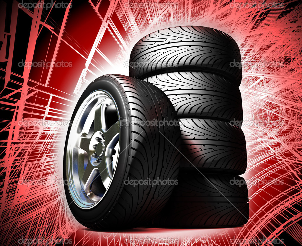 Wheels for the sports car — Stock Photo #6269945