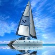 Modern sail boat — Stock Photo #6270087