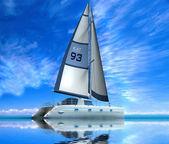 Modern sail boat — Stock Photo
