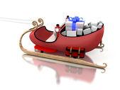 Santa sledges — Stock Photo