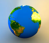 3d realistic Globe — Stock Photo