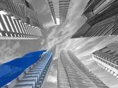 建筑企业的角度来看 — 图库照片