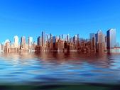 抽象的城市 — 图库照片