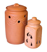 Two clay vessels — Stock Photo