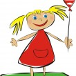 Royalty-Free Stock Vectorafbeeldingen: Girl with balloon
