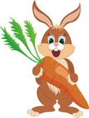 Rabbit with carrot — Stock Vector
