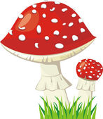 Two fly agaric — Vector de stock