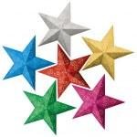 Colorful Christmas stars — Stock Photo