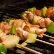 Stock Photo: Chicken meat and vegetables barbeque