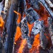 Burning glaring charcoal — Stock Photo
