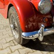 Stock Photo: Vintage red car detail
