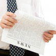Businessman reading news — Stock Photo