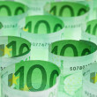 Euro banknotes money background — Stock Photo