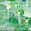 Euro banknotes closeup - time and money concept — Stock Photo