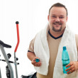 Happy man after exercising — Stock Photo