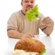 Healthy diet choices concept — Stock Photo