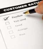 Business values - satisfied customers — Stock Photo