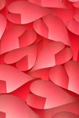 Valentine day red hearts background — Stock Photo