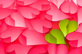 Hot pink and green Valentine's day greeting card — Stock Photo