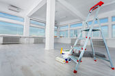 Newly renovated generic empty office space with lots of windows — Stock Photo