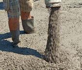 Pouring concrete - closeup — Stockfoto