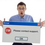 schockiert Computerbenutzer — Stockfoto