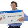 Friendly support personnel — Stock Photo