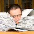 Stock Photo: Too much paperwork