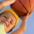 Stock Photo: Boy with basket ball