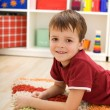 Boy in his room — Stock Photo