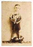 Vintage photo of a little boy — Stock Photo