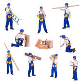 Handyman or worker involved in different activities — Stock Photo