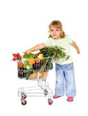 Little girl with healthy food — Stock Photo