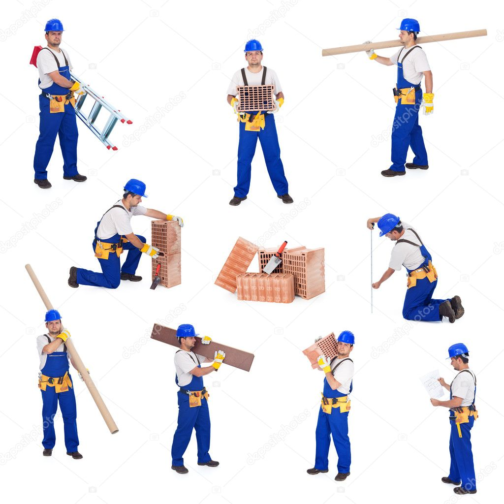 Handyman or worker involved in different activities — Stock Photo #6410289