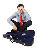 Bankrupt businessman — Stock Photo