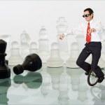 Businessman keeping the balance — Stock Photo #6430001