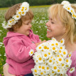Picking flowers with mom — Stock Photo #6430481