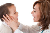 Child having physical exam at the doctor — Stock Photo